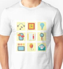 set of flat icons for web appplication T-Shirt