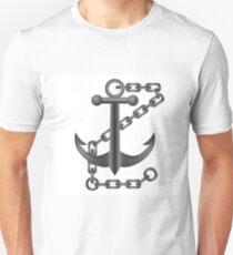 steel anchor on white background Unisex T-Shirt