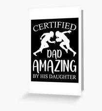 Amazing Football Dad By Daughter Shirt Fathers Day Gift Greeting Card