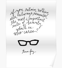 Tina Fey Quote Poster