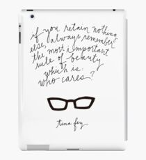 Tina Fey Quote iPad Case/Skin