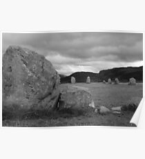 Castle Rigg stone circle. Poster