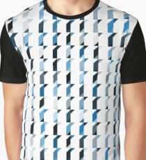blue cube pattern Graphic T-Shirt