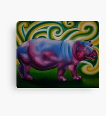 Sassy Hippo Canvas Print