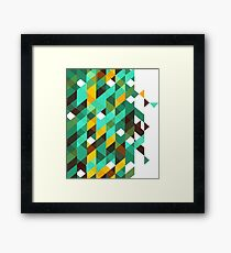 Colorful Geometric Shapes Pattern Framed Print
