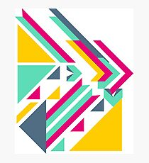 Colorful Geometric Shapes Pattern Photographic Print