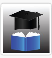 graduation cap and book Sticker