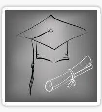 graduation cap Sticker