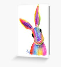 Hare Rabbit  PRiNTS ' ZIGGY ' by Shirley MacArthur Greeting Card