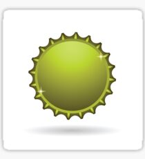 yellow cap icon Sticker