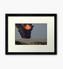 A munitions disposal explosion in Kuwait. Framed Print