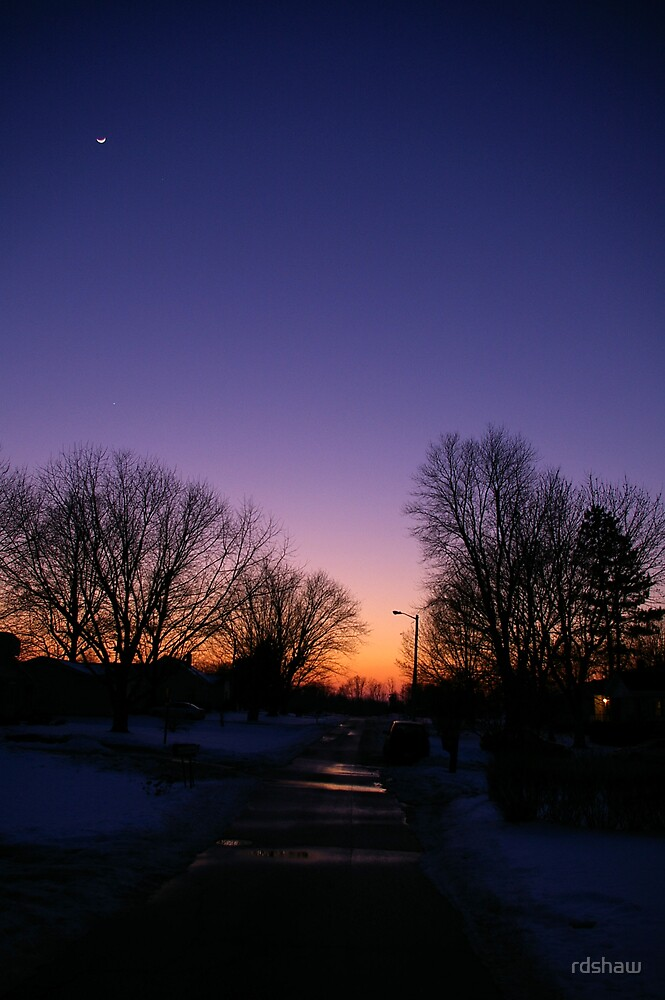 Winter Sunset by rdshaw