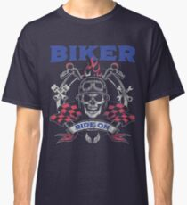 Biker Ride On Design Classic T-Shirt