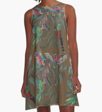 Birds from Paradise. Rosellas A-Line Dress