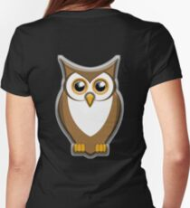 OWL, Brown Owl,  Womens Fitted T-Shirt
