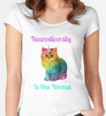 Neurodiversity Is Normal Women's Fitted Scoop T-Shirt