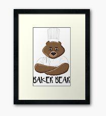 Barry the Baking Bear Framed Print