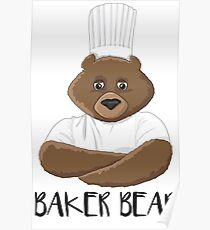 Barry the Baking Bear Poster