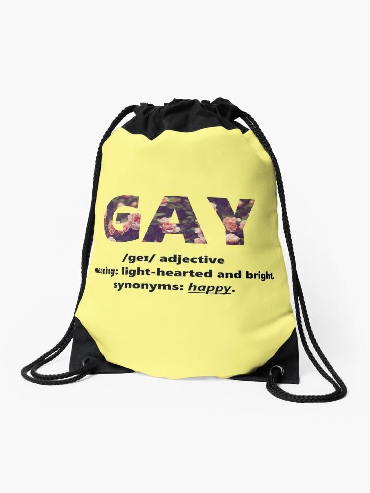 lacer dans recherche de véritables profiter de prix pas cher GAY (signification) | Sac à cordon