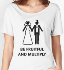 Be Fruitful And Multiply (Stag Party / Hen Night / Black) Women's Relaxed Fit T-Shirt