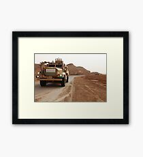 Cougar armored fighting vehicles in Iraq. Framed Print