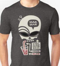 Evel Alein Deth Skul Dirnk Blod T-Shirt