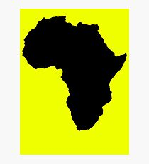 The continent of Africa map of African nation Photographic Print
