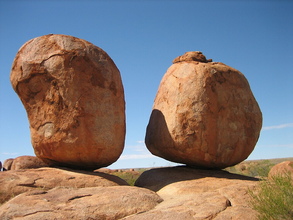 Eggs of the Rainbow Serpent - The Devils Marbles by AdrianMichael