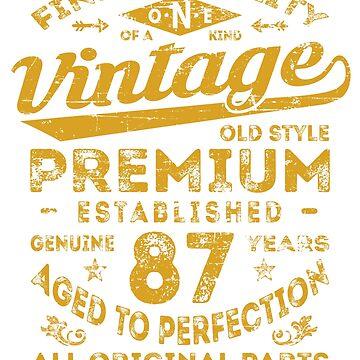 Vintage 87th Birthday Gift Idea by ciddesign