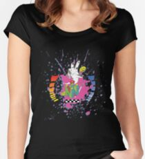 N64 Tribute Splat Women's Fitted Scoop T-Shirt