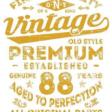 Vintage 88th Birthday Gift Idea by ciddesign