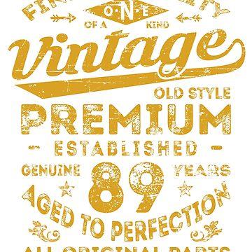 Vintage 89th Birthday Gift Idea by ciddesign