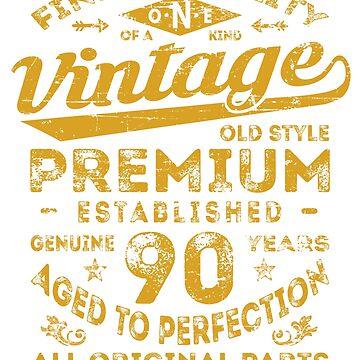 Vintage 90th Birthday Gift Idea by ciddesign