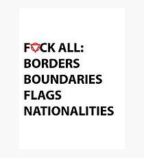 BORDERS, BOUNDARIES, FLAGS, NATIONALITIES Photographic Print