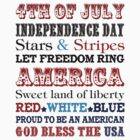American Independence Day 4th july t shirt by phamquocdat