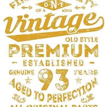 Vintage 93rd Birthday Gift Idea by ciddesign