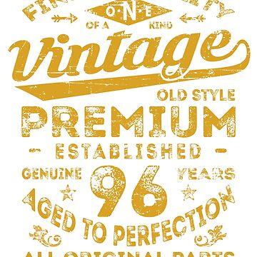Vintage 96th Birthday Gift Idea by ciddesign