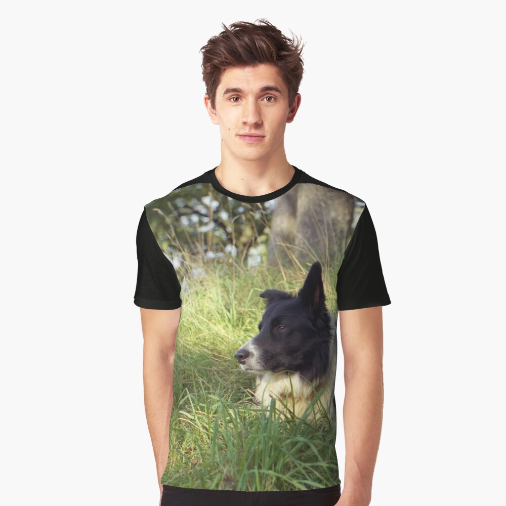 """""""Dogs are our link to Paradise"""" Graphic T-Shirt Front"""