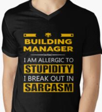BUILDING MANAGER - SARCASM TEES AND HOODIE Men's V-Neck T-Shirt