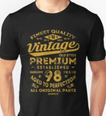 Vintage 98th Birthday Gift Idea Unisex T-Shirt