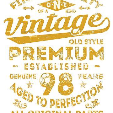 Vintage 98th Birthday Gift Idea by ciddesign