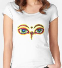 Buddha eyes Women's Fitted Scoop T-Shirt