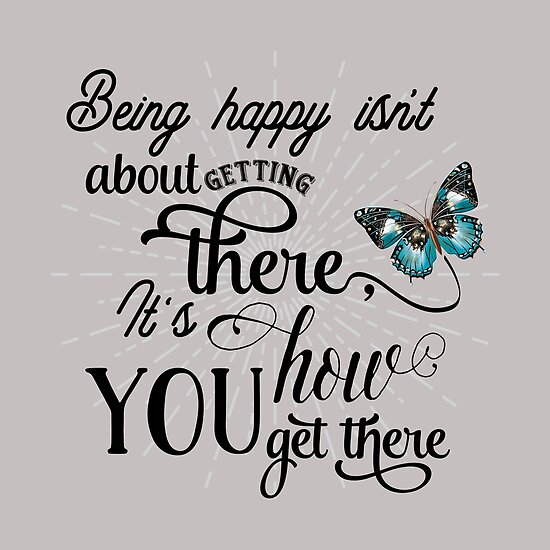 being happy be happy happiness typography inspirational saying