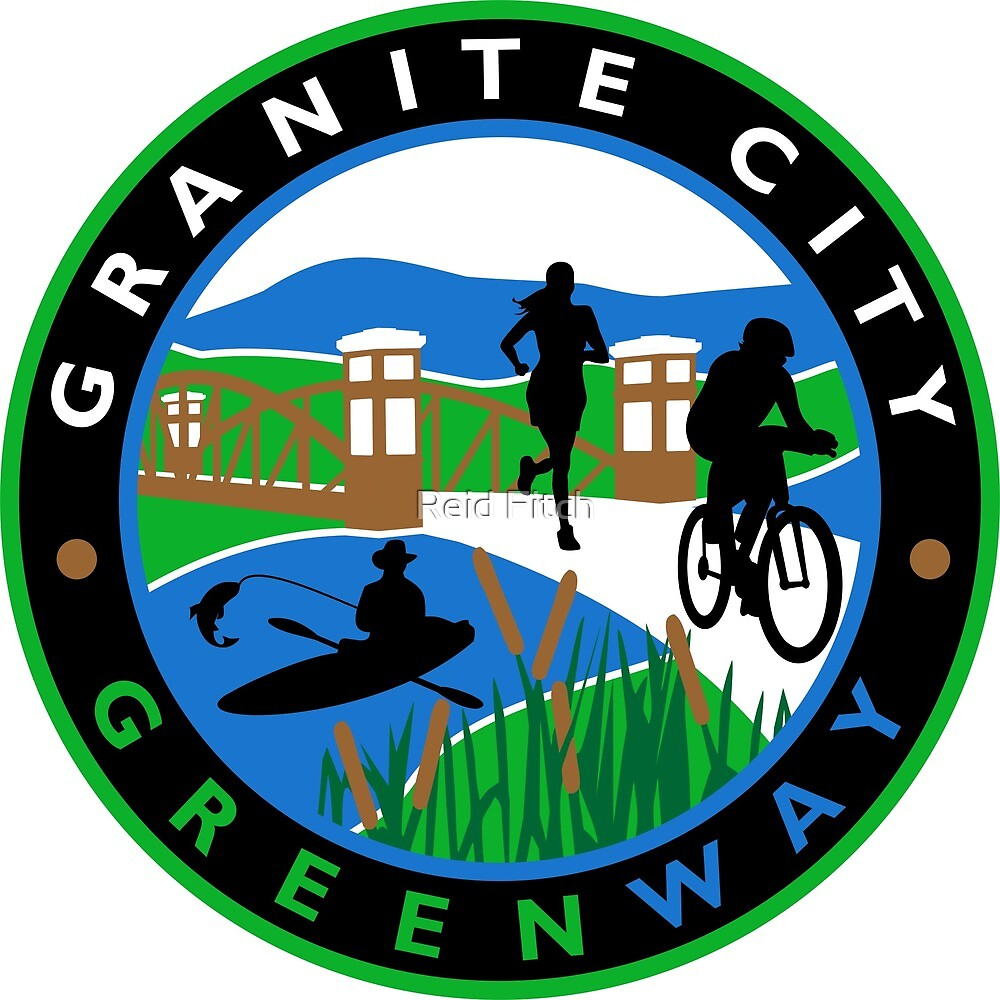 Granite City Greenway Logo Seal Black by Reid Fitch