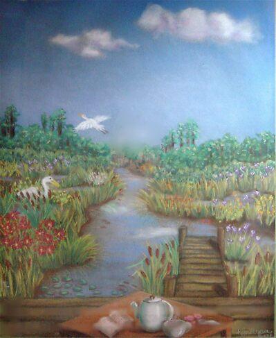 Coffee on the Marsh by Rita Deegan