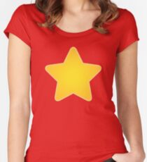 For all Steven Universe Fans: Yellow Star on Red T-Shirt Women's Fitted Scoop T-Shirt