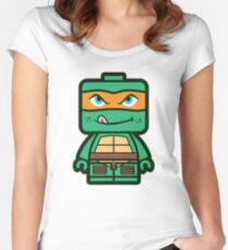 Chibi Michelangelo Ninja Turtle Women's Fitted Scoop T-Shirt