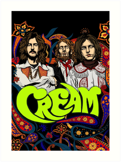 cream band clapton no background art prints by helenacooper