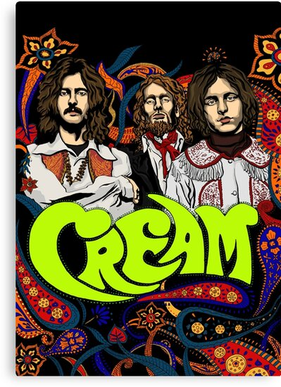 cream band clapton no background canvas prints by helenacooper