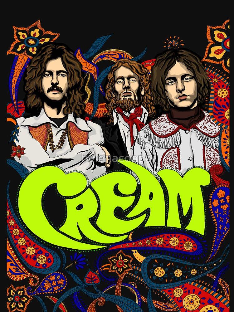 cream band clapton no background classic t shirt by helenacooper